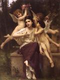 Ave De Printemps Prints by William Adolphe Bouguereau
