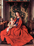 Madonna and Child Reading Print by Jan Van Eyck