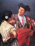 Torero and Young Girl Print by Mary Cassatt
