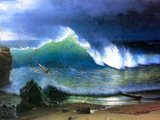 Albert Bierstadt - The Coast of the Turquoise Sea - Reprodüksiyon