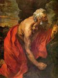 St Hieronymus Kunstdrucke von Anthony Van Dyck