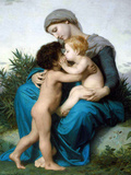 Fraternal Love Prints by William Adolphe Bouguereau