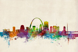 St Louis Missouri Skyline Photographic Print by Michael Tompsett