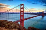 Horizontal View of Golden Gate Bridge Fotodruck von  prochasson
