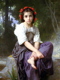 At the Edge of the Brook 2 Prints by William Adolphe Bouguereau
