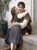 A Little Coaxing 1890 Poster by William Adolphe Bouguereau