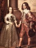 William of Orange with His Future Bride Poster von Anthony Van Dyck