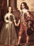 William of Orange with His Future Bride Posters by Anthony Van Dyck