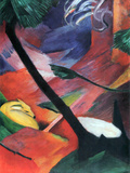 Deer in the Forest II Posters by Franz Marc