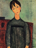 Girl with a Black Robe Posters by Amedeo Modigliani