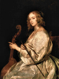 Portrait of Mary Ruthven, Wife of the Artist Art by Anthony Van Dyck