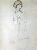 Gustav Klimt - Profile Standing Female Figure with Raised Arms Obrazy