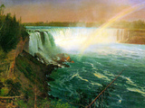 Niagra Falls Prints by Albert Bierstadt