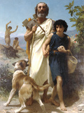 Homer and His Guide 1874 Posters by William Adolphe Bouguereau