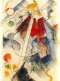 Sketch of the Brenner Road Posters by Franz Marc