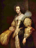 Portrait of Marie-Louise De Tassis Posters by Anthony Van Dyck