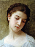 William Adolphe Bouguereau - Head of a Young Girl 1898 - Art Print