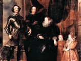 Portrait of the Lomellini Family Kunstdruck von Anthony Van Dyck