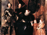 Portrait of the Lomellini Family Poster by Anthony Van Dyck