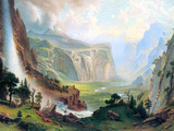 Half Dome in Yosemite Print by Albert Bierstadt