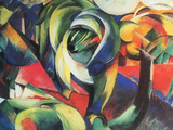 The Mandrill Posters by Franz Marc