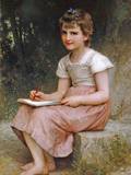 A Calling 1896 Posters by William Adolphe Bouguereau
