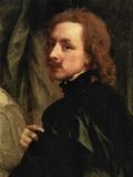 Portrait of Sir Endimion Porter and Self-Portrait (Detail) Kunstdrucke von Anthony Van Dyck