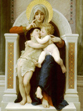 Vierge-Jesus Saint Jean Baptiste 1875 Posters by William Adolphe Bouguereau