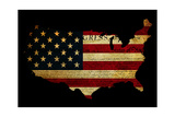 Declaration of Independence Grunge America Map Flag Posters by  Veneratio