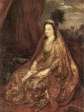 Portrait of Elisabeth Theresa Kunst von Anthony Van Dyck