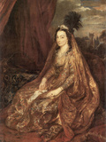 Portrait of Elisabeth Theresa Prints by Anthony Van Dyck