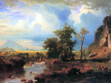 Northern Fork of the Plate, Nebraska Print by Albert Bierstadt
