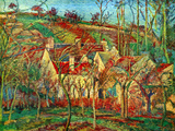 The Red Roofs Affiches par Camille Pissarro
