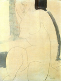 Female Nude Print by Amedeo Modigliani