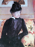 Young Woman in Black Poster by Mary Cassatt