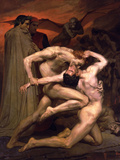 Dante and Virgil in Hell Print by William Adolphe Bouguereau