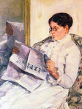 When Reading of Figaro Posters by Mary Cassatt
