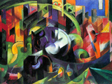 Abstract with Cattle Poster by Franz Marc