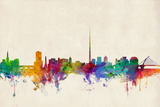 Dublin Ireland Skyline Photographic Print by Michael Tompsett