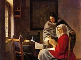 Girl Interrupted in Her Music Prints by Jan Vermeer