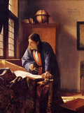 The Geographer Print by Jan Vermeer