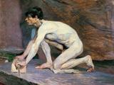 The Marble Polisher Arte por Henri de Toulouse-Lautrec