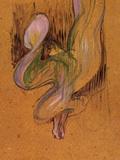 Study for Loie Fuller Lámina por Henri de Toulouse-Lautrec