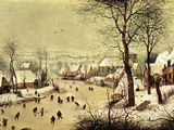 Winter Landscape with Skaters Print by Pieter Bruegel the Elder