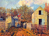 Village of Voisins (Now Part of Louveciennes) Prints by Alfred Sisley