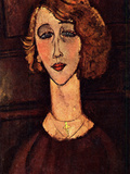 Lady with a Green Cross Posters by Amedeo Modigliani