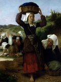 Washerwomen of Fouesnant Prints by William Adolphe Bouguereau