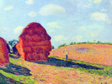 The Straw Rents Posters by Alfred Sisley