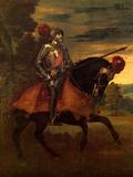 Karl V in Muehlsbergs Battle Posters by  Titian