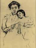 Handkerchief Poster by Mary Cassatt